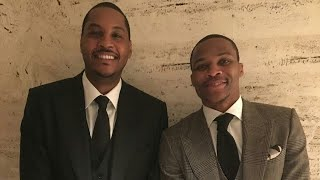 Carmelo Anthony And Russell Westbrook are Happy As Can Be thumbnail