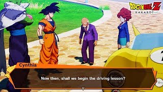 NEW Dragon Ball Z Kakarot Goku Driving Car Minigame! DBZ Kakarot Gameplay Screenshots