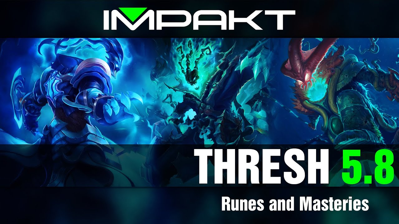 League of Legends: Support Tips - Thresh Runes/Masteries - YouTube