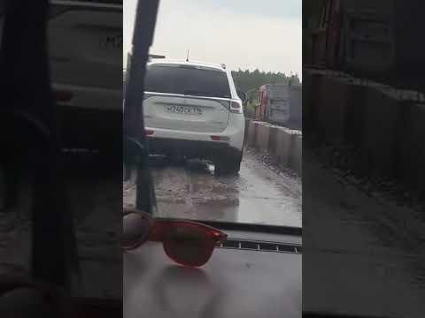 Сызрань пробки на трассе М5. 13 июля. 2017 г. Едем в Геленджик. трасса М5. Проезжаем город Сызрань.