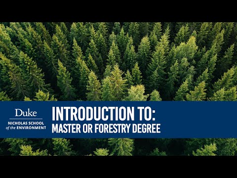 ASW 2017: Masters Programs - Master of Forestry