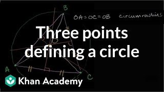 Three Points Defining a Circle