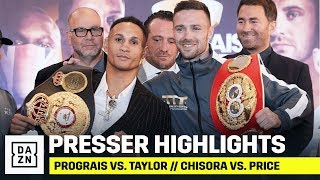 HIGHLIGHTS | Prograis vs. Taylor // Chisora vs. Price Final Press Conference
