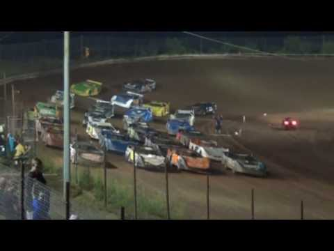 I-77 Raceway Park $5,000 To Win Ultimate Super Late Model Feature Highlights 6-1-2013