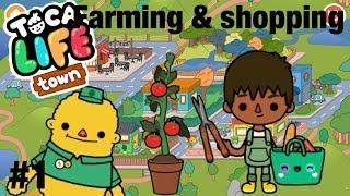 Toca life Town | Farming & Shopping!? #1