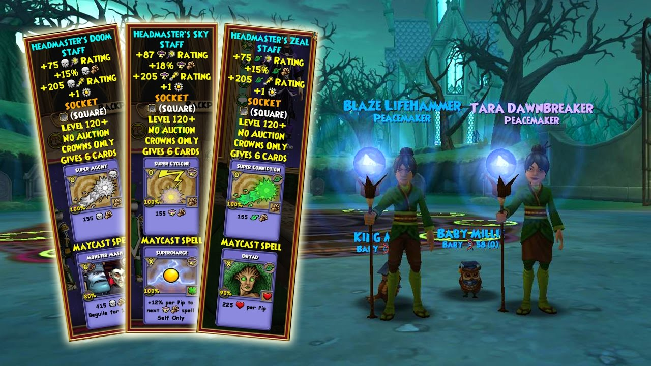 Wizard101: ALL Professor's Hoard Pack Maycast Wands! - Vidly xyz