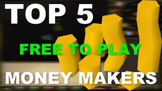 Old School Runescape Top 5 Best F2P Money Makers