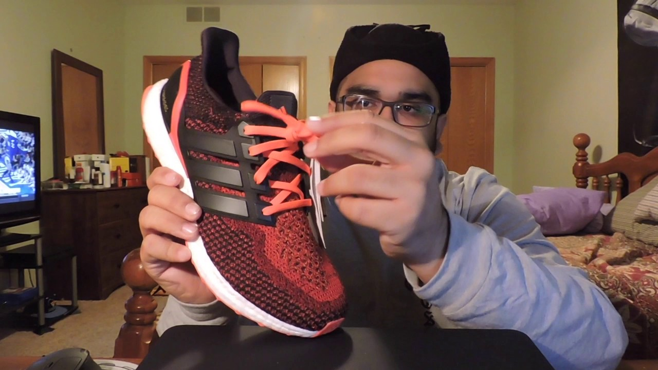 Adidas Ultraboost Solar Red Unboxing - YouTube b217c73e4