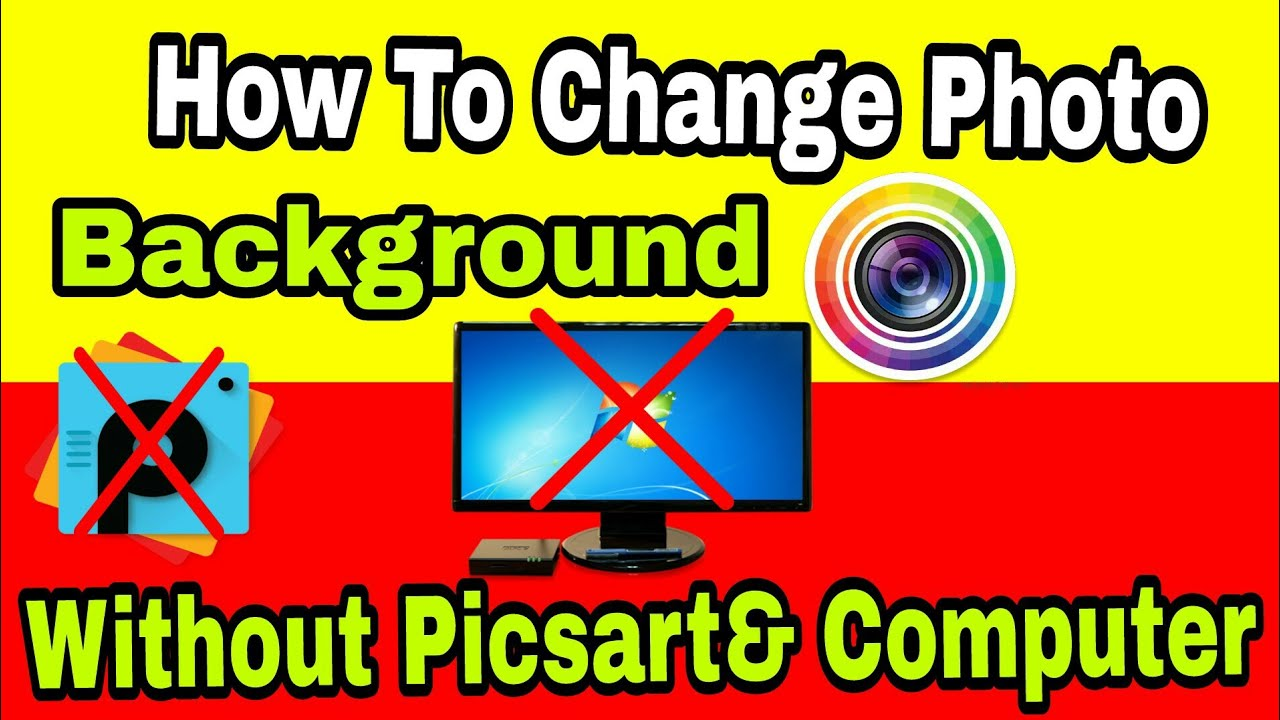 how to change photo background