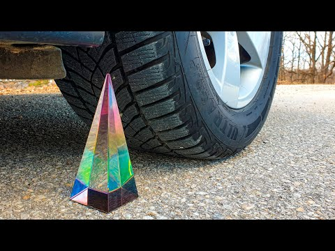crushing-crunchy-&-soft-things-by-car!-experiment-car-vs-glass-pyramid