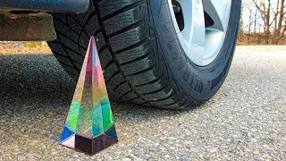 Crushing Crunchy & Soft Things by Car! EXPERIMENT CAR vs Glass Pyramid