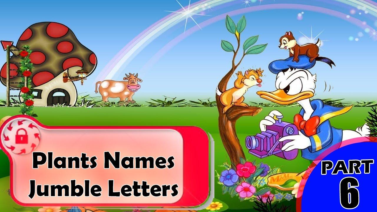 plants names jumble letters unscramble letters word jumble jumble puzzles