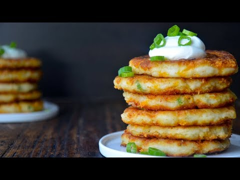Cheesy Leftover Mashed Potato Pancakes Recipe