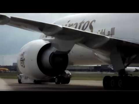 Emirates B777F startup