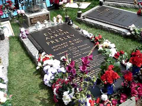 Elvis Presley's Grave, a family reunited.  R.I.P