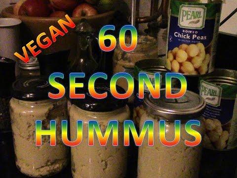 60 second hummus - vegan food how to