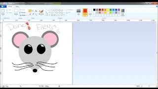 How to draw on paint: a mouse face