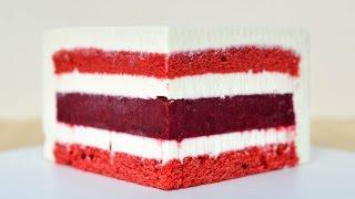 Муссовый торт Красный бархат Зеркальная глазурь Mousse Cake Red Velvet