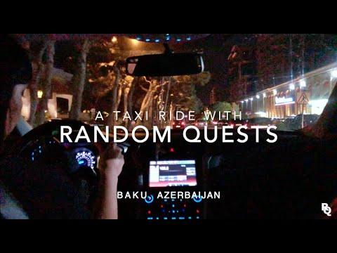 Taxi Driving at night   BAKU, Azerbaijan 🇦🇿 #7 - [Music Prod. by HoobeZa]