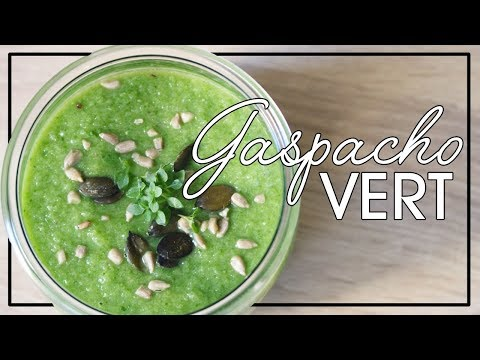 la-minute-veggie-:-gaspacho-vert.-soupe-froide-epinards,-concombre-et-poivron