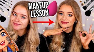 MAKEUP 101: A VERY AVERAGE MAKEUP LESSON WITH..  ME 😂