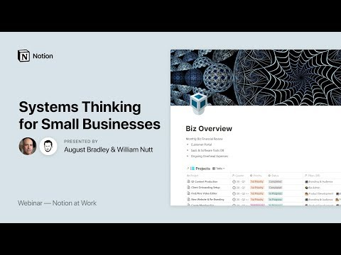 Notion at Work: Systems Thinking for Small Businesses