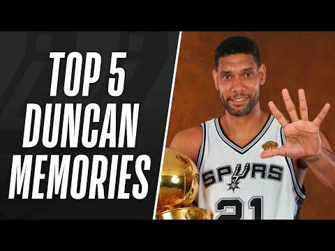Top 5 Tim Duncan Memories