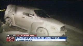 Blizzard conditions cause highway closures in eastern plains, northern Colorado