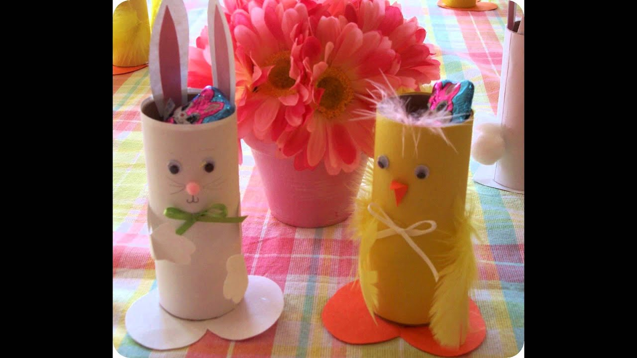Diy Toilet Paper Roll Craft Ideas For Easter Youtube