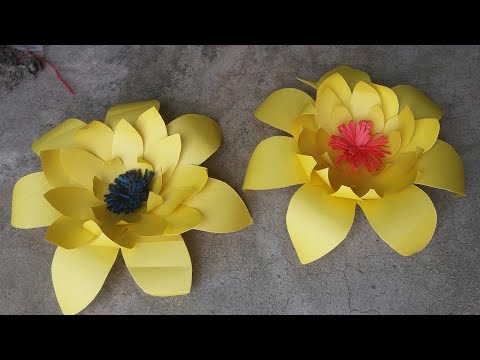 DIY Paper Flowers Very Easy and Simple - Paper Crafts