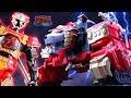 Lion Fire Fortress Zord Improved! Blaze Ultrazord! Power Rangers Super Ninja Steel