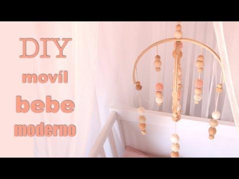 DIY COMO HACER UN MOVIL PARA BEBE | DECORACION HABITACION INFANTIL MODERNA