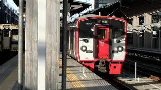 815系 (回送) 熊本駅発車& 815系普通 熊本行き 熊本駅到着