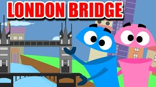 London Bridge is Falling Down | English Nursery Rhymes And Songs For Children From KiddyBots