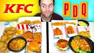KFC vs. Off Brand KFC - FAST FOOD Taste Test!