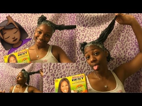 Relaxing My Natural Hair| Frm Virgin Hair to Relaxed ! (DETAILED)