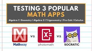 THE BEST MATH APP FOR YOUR CLASS   Mathway vs Photomath vs Socratic screenshot 1