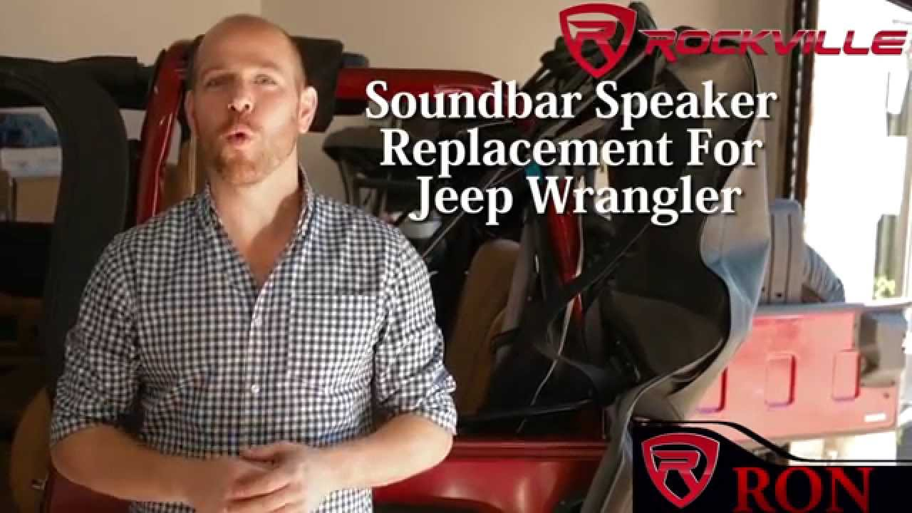 how to replace your soundbar speakers in a jeep wrangler