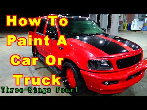 How To Paint A Car Or Truck At Home /Three-Stage Pearl / ALLKANDY Wet Wet Clear / Urekem Base Coat