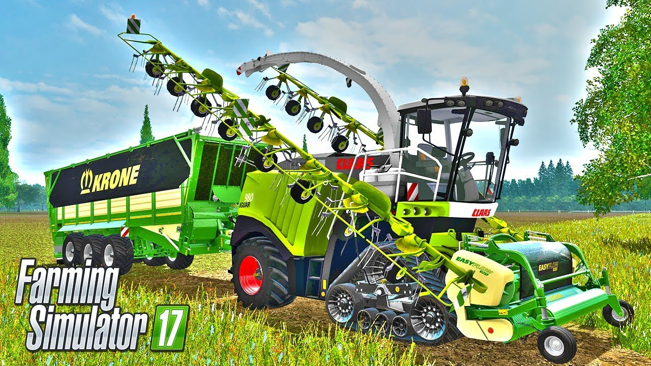 Claas Jaguar Forage Harvester VS Huge Pile of Grass Challenge - Farming  Simulator 2017 Mods