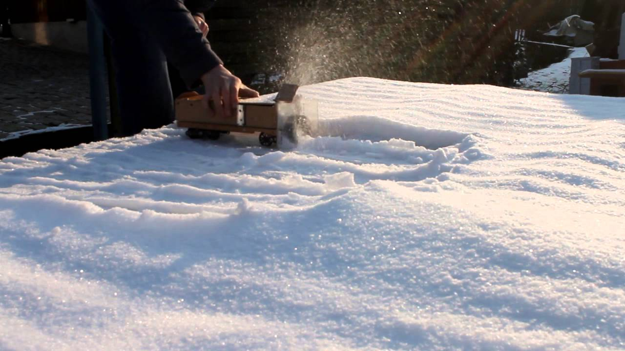 erster test der lgb eigenbau schneefräse (leider - youtube