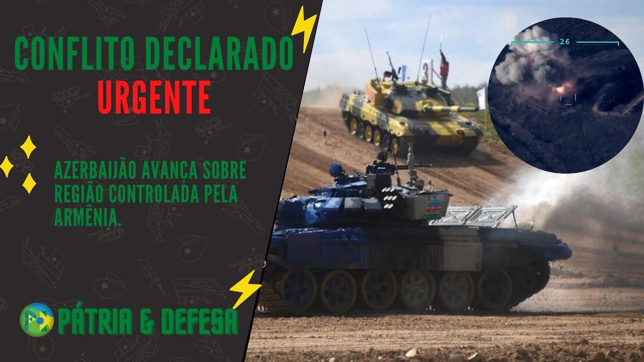 URGENTE - Escalada Militar entre Azerbaijão x Armênia. 10 Blindados e 1 Helicóptero Destruídos.