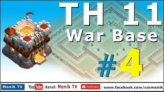 Monik TV Clash of Clans - TH11 Super War Base #4 with Bomb Tower, Anti 3 Stars!!!