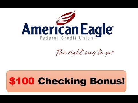 American Eagle Financial Credit Union Checking Review: $100 Bonus