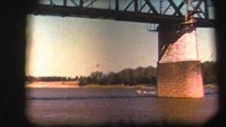 8mm Movie Time: The Mississippi River, the Arch going up, St. Louis and Chain of Rocks
