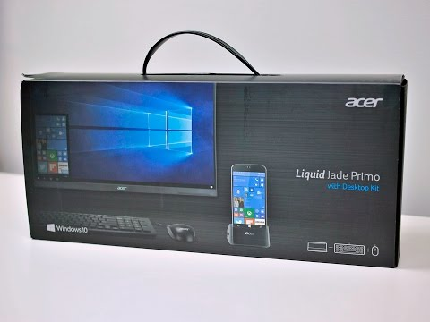 Acer Jade Primo Windows phone unboxing