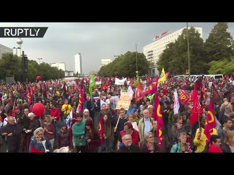 Protests against TTIP agreement in Berlin