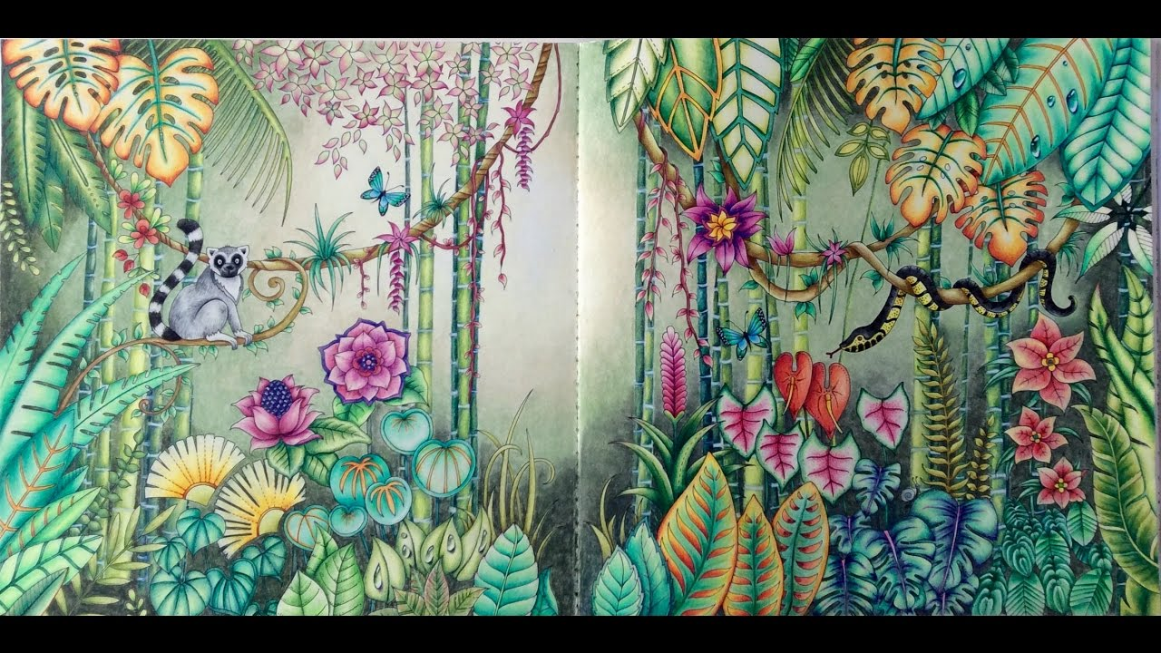 Magical Jungle Double Page Tutorial Part 1 YouTube