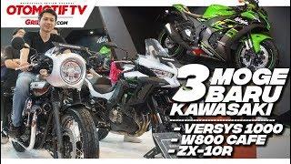 Kawasaki New Ninja ZX-10R, New Versys 1000 & W800 Cafe 2019  l First Impression l GridOto