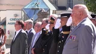 Cérémonie du 74ème anniversaire de la libération d'Avallon à Avallon.